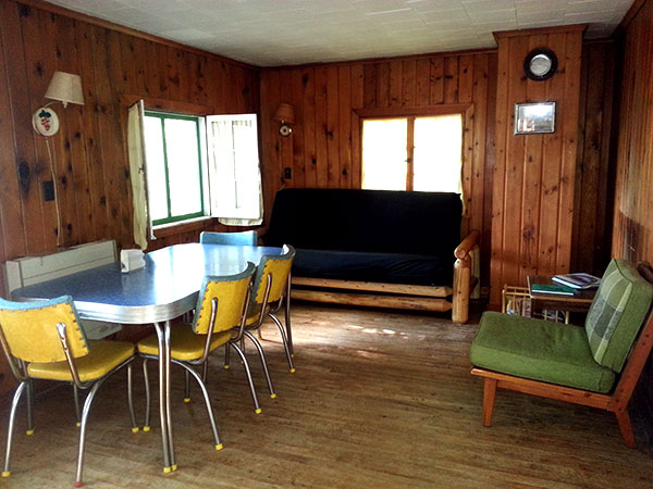 Cabin 3 Living and Dining Area
